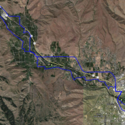 My actual route as tracked by RunMeter