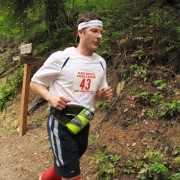 A runner in last year's inaugural Red Devil Challenge.