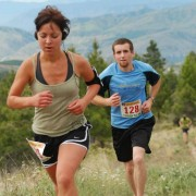 A couple runners make their way uphill during the Echo Valley Trail Run series on June 16 near Lake Chelan (photo courtesy of Evergreen Trail Runs).