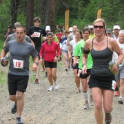 Runners leave the Sandcreek Trailhead in last year's Red Devil 25K race.