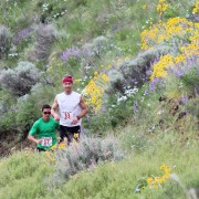 Chad McBride, right, and Andy Johnson at the 2013 Horse Lake Trail Run in the Wenatchee Foothills.