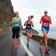 Runners head toward the finish line along the north shore of Lake Chelan during last year's race in this Tim Chandonnet photo. Chandonnet is again the official race photographer.