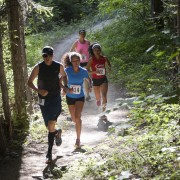 Runners at the 2014 Red Devil Challenge Trail Run near Cashmere.