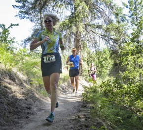 Runners head down the trail during last year's Red Devil.