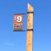 This 9-mile marker is one of two mile-markers that have been installed.