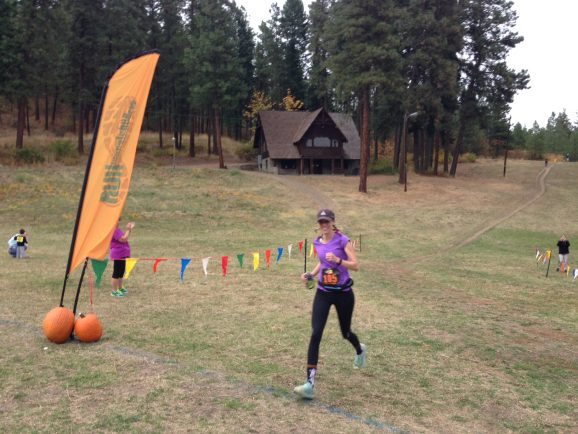 The start and finish of the Oktoberfest Trail Runs is held next to the historic Leavenworth Ski Hill Lodge.